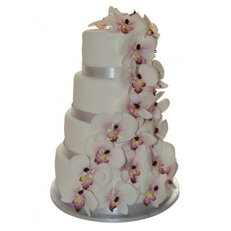 wedding cake orchidée