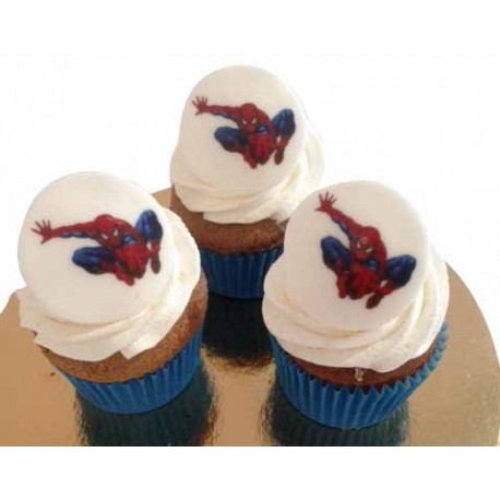 Cupcakes logo Spiderman