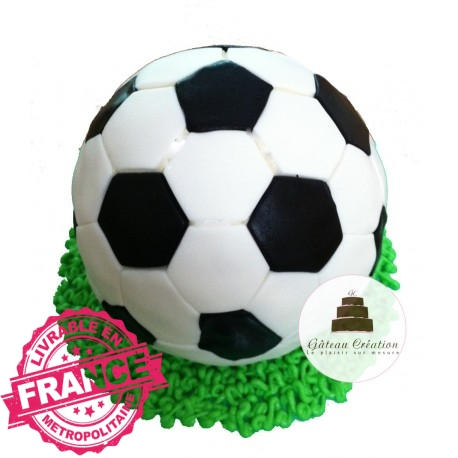 g teau d 39 anniversaire ballon de foot g teau cr ation courbevoie paris. Black Bedroom Furniture Sets. Home Design Ideas