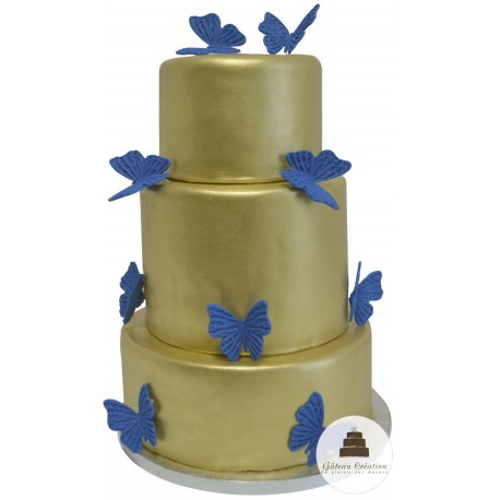 Wedding Cake Gold papillon