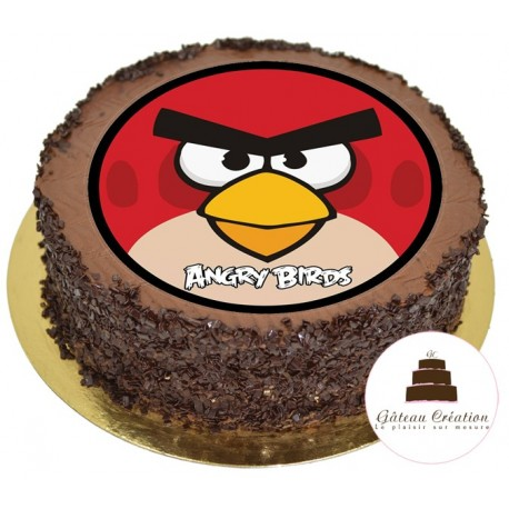 Gâteau d'Anniversaire Chocolat Angry Birds