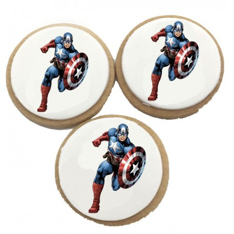 Biscuits Anniversaire captain america