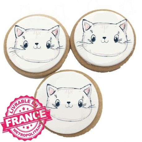 Biscuits Anniversaire Petit Chat