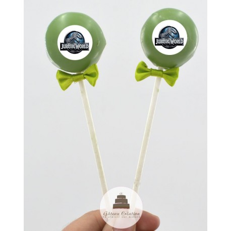 Cake pop Jurassic World