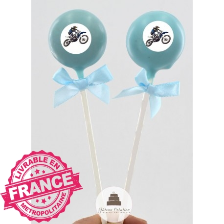Cake pop Moto Cross