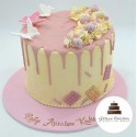 Gâteau drip cake anniversaire butterfly