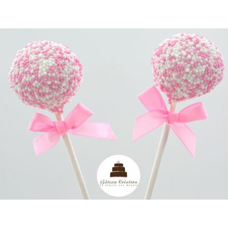 Cake pop Perle rose