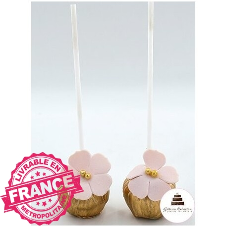 Cake pop feuille d'or