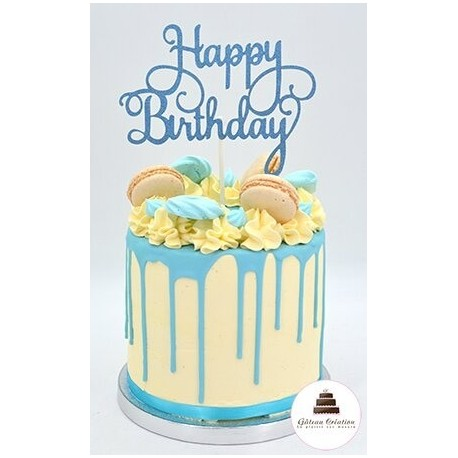 Drip cake sweety bleu- Click and collect