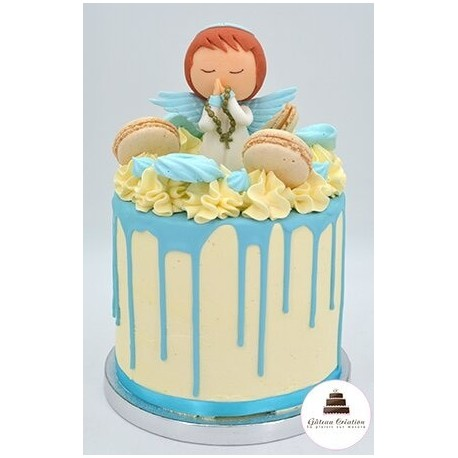 Drip cake angelot bleu - Click and collect