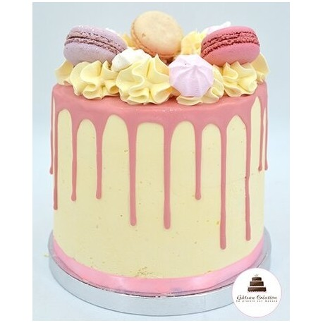 Drip cake sweety rose - Click and collect