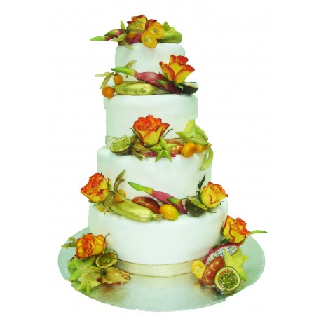 wedding cake fruit