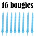 16 bougies bleues